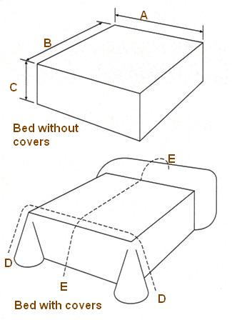 Bed measuring guide